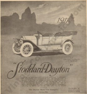 1911 Stoddard Dayton Advertisement #3