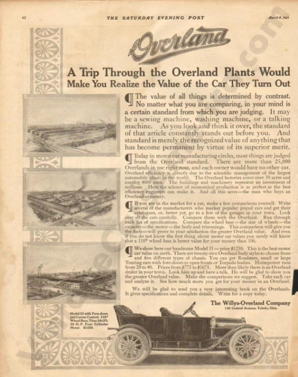 1911 Overland Advertisement #5