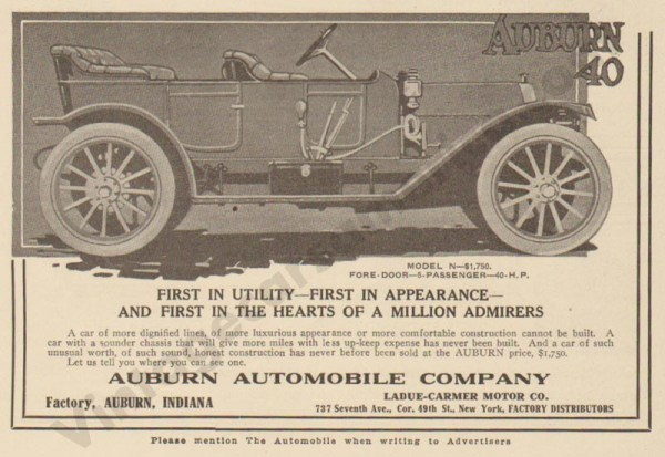 1911 Auburn Advertisement