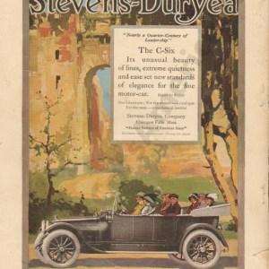 1913 Stevens Duryea Advertisement
