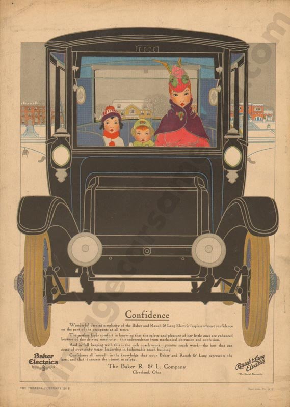 1916 Baker Electric Advertisement