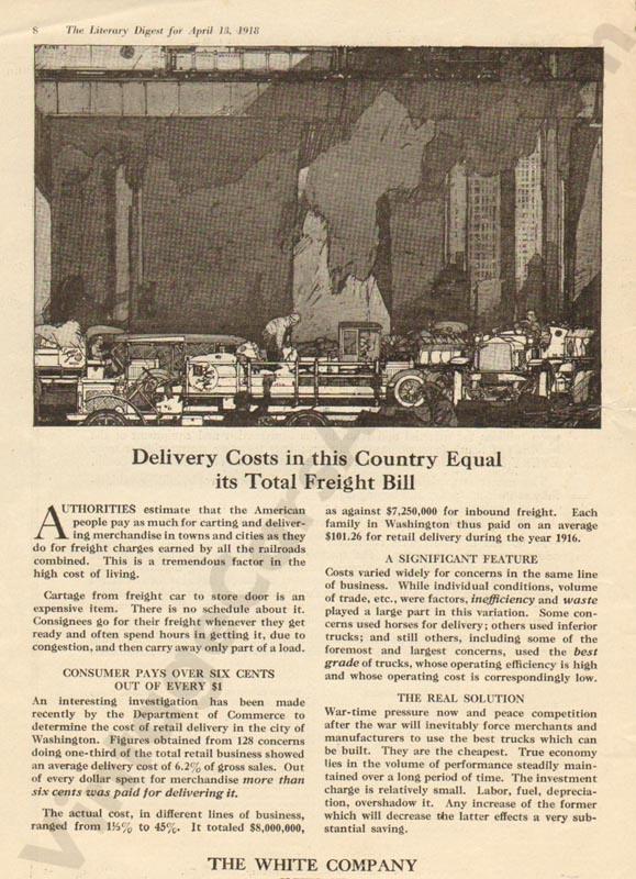 1918 White Advertisement