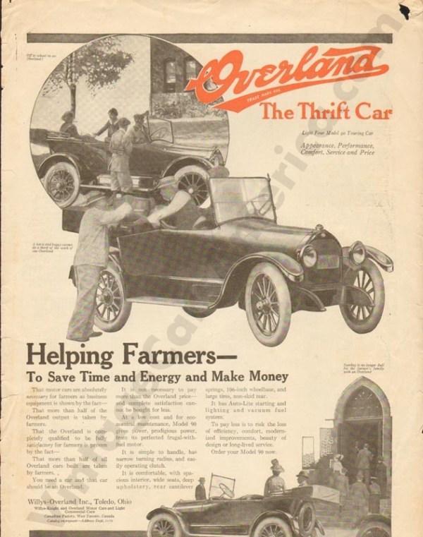 1918 Overland Advertisement #2