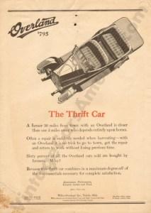 1918 Overland Advertisement #1