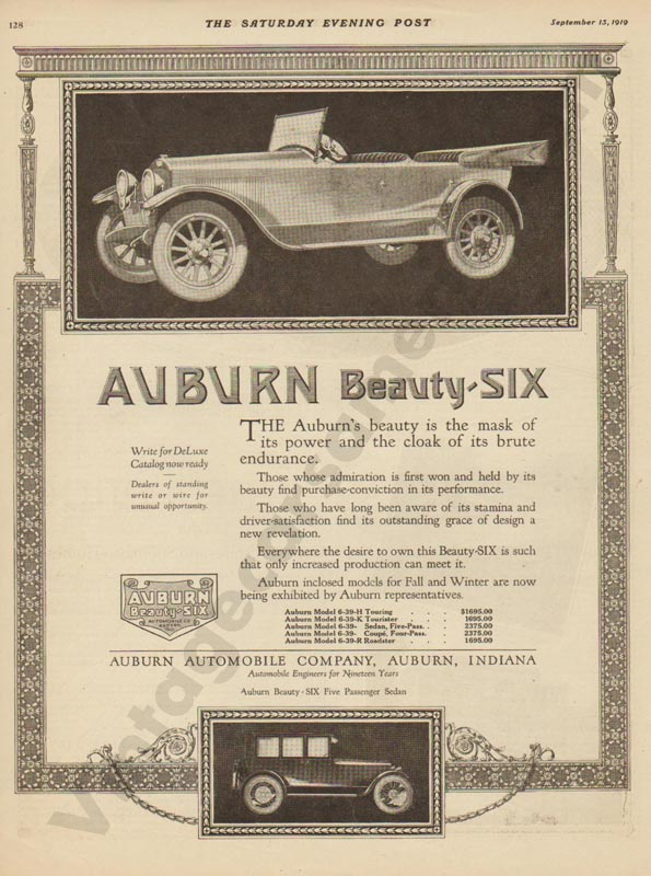 1919 Auburn Advertisement #3