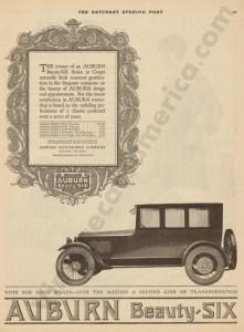 1919 Auburn Advertisement