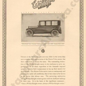 1919 Overland Advertisement #2