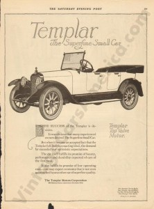 1919 Templar Advertisement