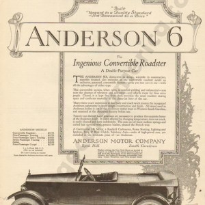 1920 Anderson Advertisement #1