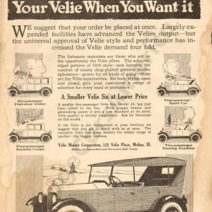 3/11/1920 Velie Advertisement