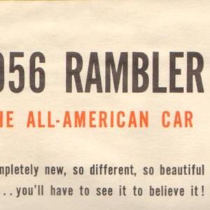 1956 Rambler Brochure