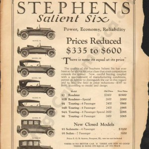 8/11/1921 Stephens Advertisement