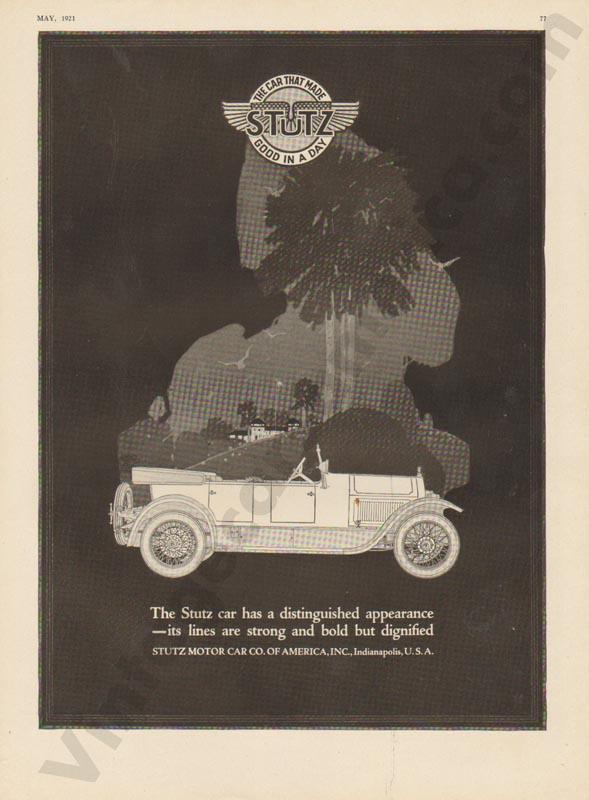 1921 Stutz Advertisement #1