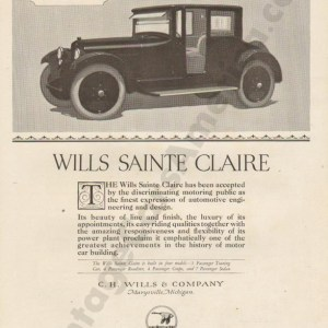 1921 Wills Saint Claire Advertisement #2