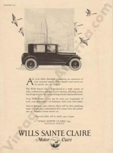 1923 Wills Saint Claire Advertisement #1