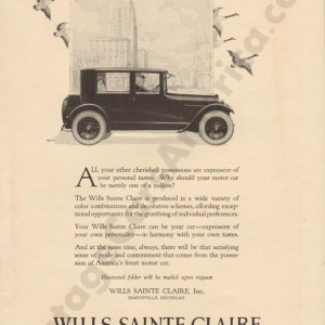 1923 Wills Saint Claire Advertisement #1