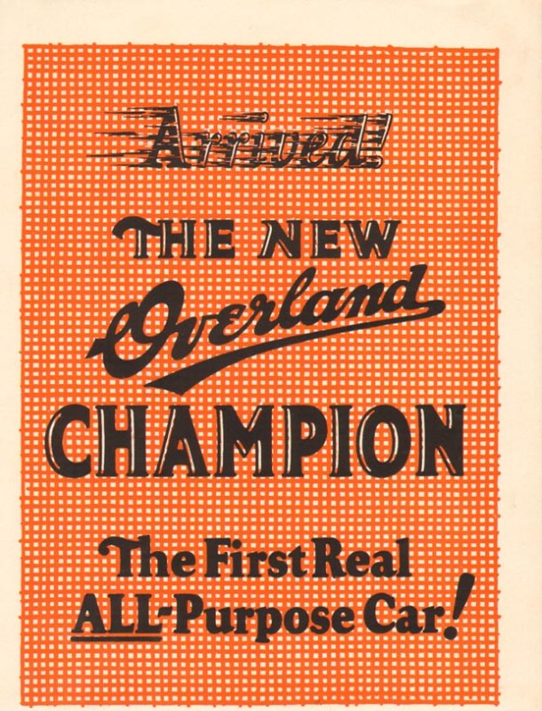 1924 Overland Advertisement #5