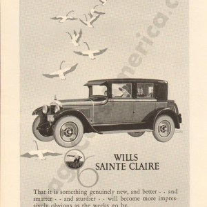 1925 Wills Saint Claire Advertisement #2