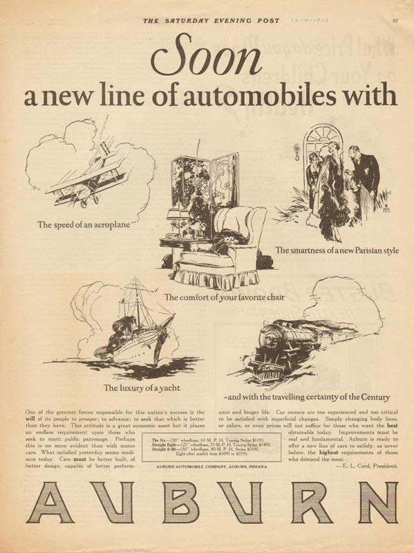 1926 Auburn Advertisement