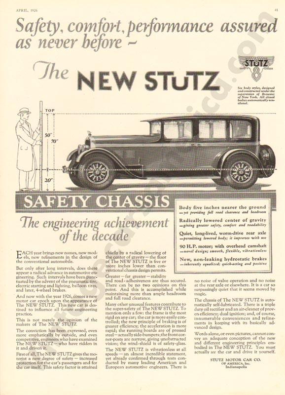 1926 Stutz Advertisement #5