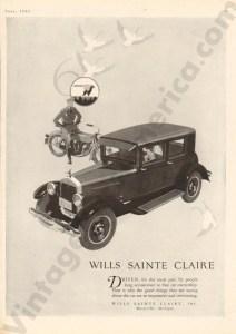 1926 Wills Saint Claire Advertisement #1
