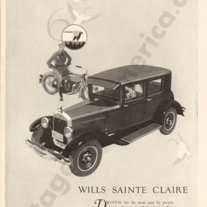 1926 Wills Saint Claire Advertisement #1