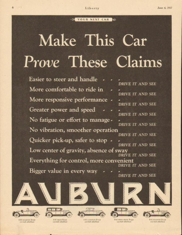 1927 Auburn Advertisement #31