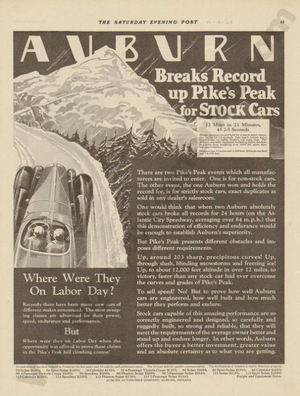 1928 Auburn Advertisement #23