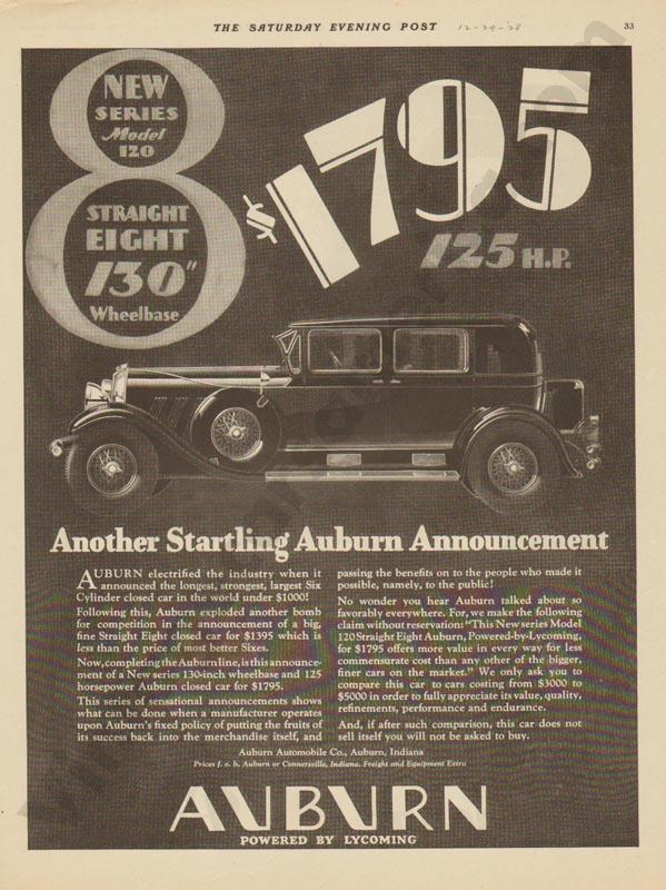 1928 Auburn Advertisement #24