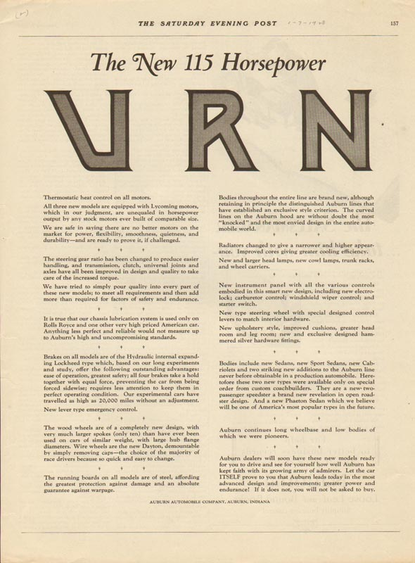 1928 Auburn Advertisement #26