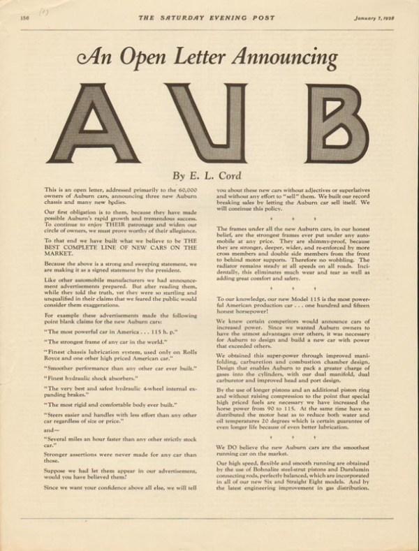 1928 Auburn Advertisement #6