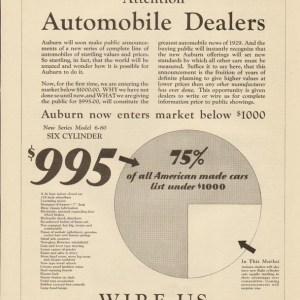 1929 Auburn Advertisement #1