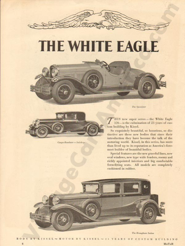 1929 White Eagle Advertisement #2