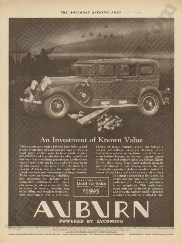 1929 Auburn Advertisement #4