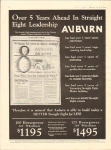 1930 Auburn Advertisement