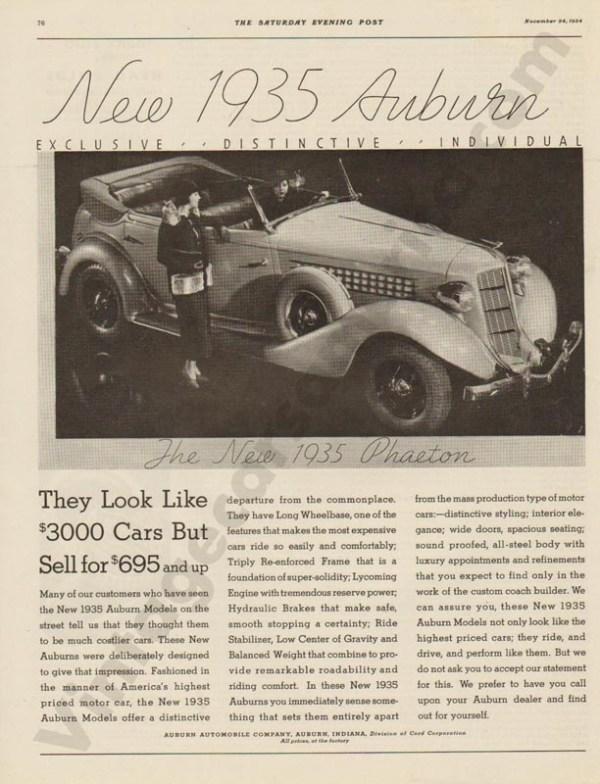11/24/1934 Auburn Advertisement