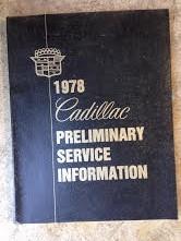 1978 Cadillac Shop Manual