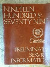 1979 Cadillac Shop Manual