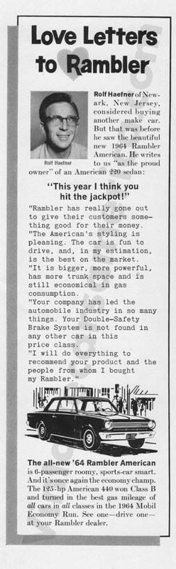 1964 Rambler Advertisement #3