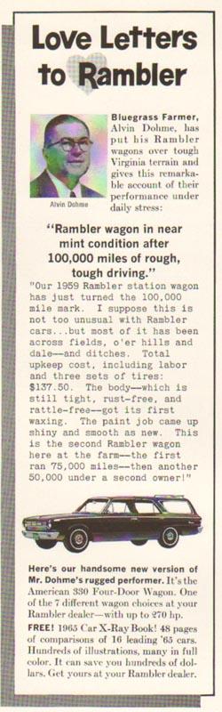 1965 Rambler Advertisement #7