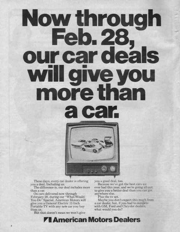 1971 American Motors Advertisement #2