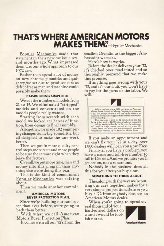 1972 American Motors Advertisement #3