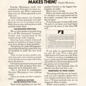 1972 American Motors Advertisement #3
