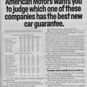 1973 American Motors Advertisement