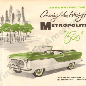 1956 Metropolitan Brochure