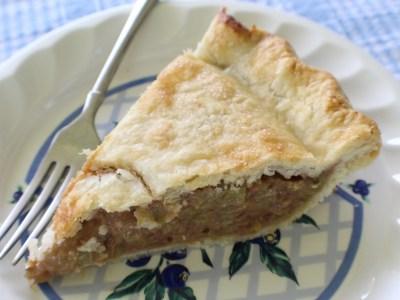 Jeanne McDonald's rhubarb pie