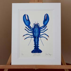Blue Lobster Print