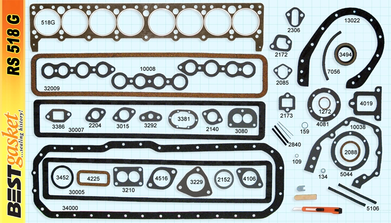 """233-248 """"40-50 Small Series"""" Engine Rebuilding Set RS518G"""