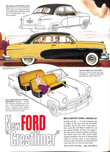1950 ad for Ford Crestliner