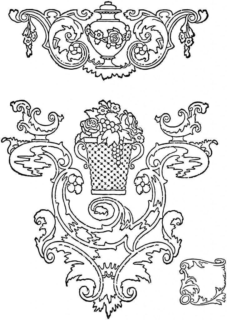 Vintage Rococo Scroll